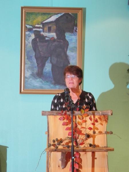 Lopen Samoojien puheenjohtaja ja perustajäsen Sisko Keskitalo piti kauniin avauspuheenvuoron. Siskolle aina sydämeni sykkii.