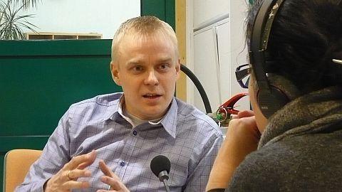 Kuva tämän päivän Politiikan Puhemyllystä Ylen Radio Hämeestä. Kuvan otti Markku Karvonen. Kiitokset tästä.