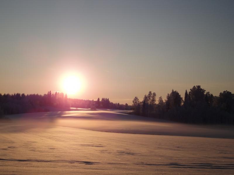 Tällainen oli maisemana tänään iltapäivällä kun ajelin Helsingistä eduskunnasta kotiin. Kuva Kormun kartanon upeilta peltoaukeilta. Häkellyttävä.