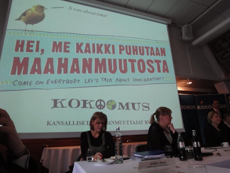 Toinen isoaihe oli uuden kampanjamme julkistus. Ulkopolitiikan keskustelun me avasimme jo kaikille meille suomalaisille ja nyt haluamme tehdä saman myös keskustelulle maahanmuutosta. Uusi koko maan kattava kiertue