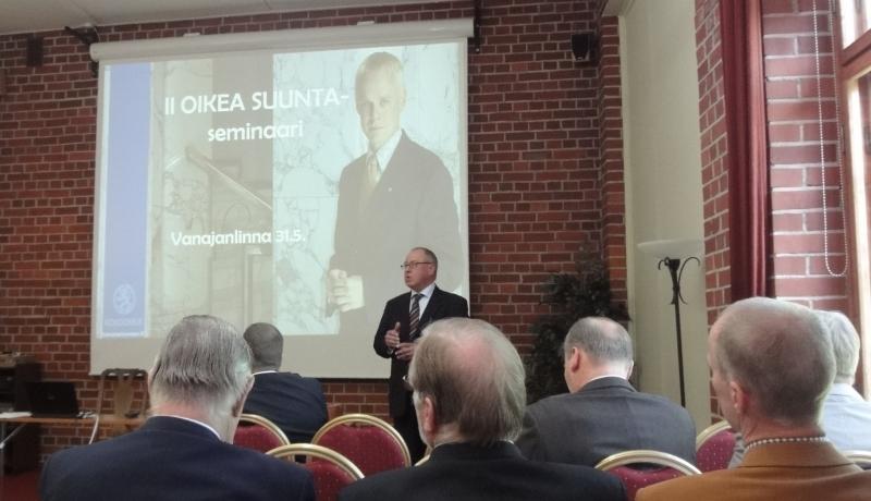 II Oikea Suunta -seminaari tänään 31.5.2010 Vanajanlinnassa.