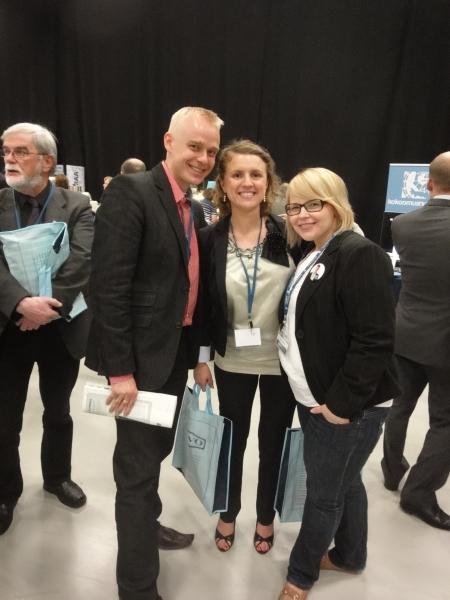 Faden ja Susanna Harjun kanssa kokoustauolla.