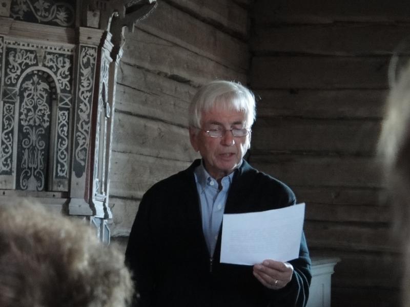 Pekka Perko oli iltakonserttihartauden yhden teksteistä.