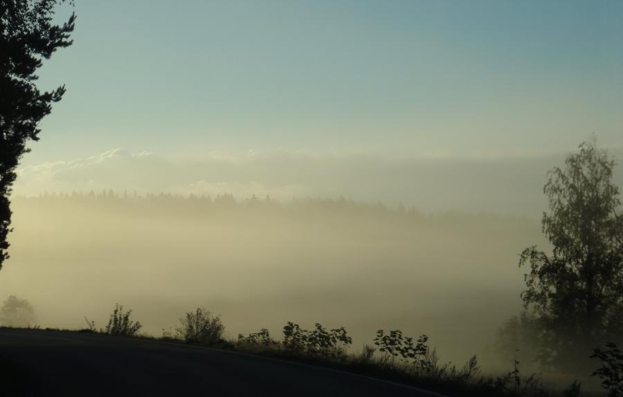 Aamun tunnelmia tältä aamulta. Kaunista.