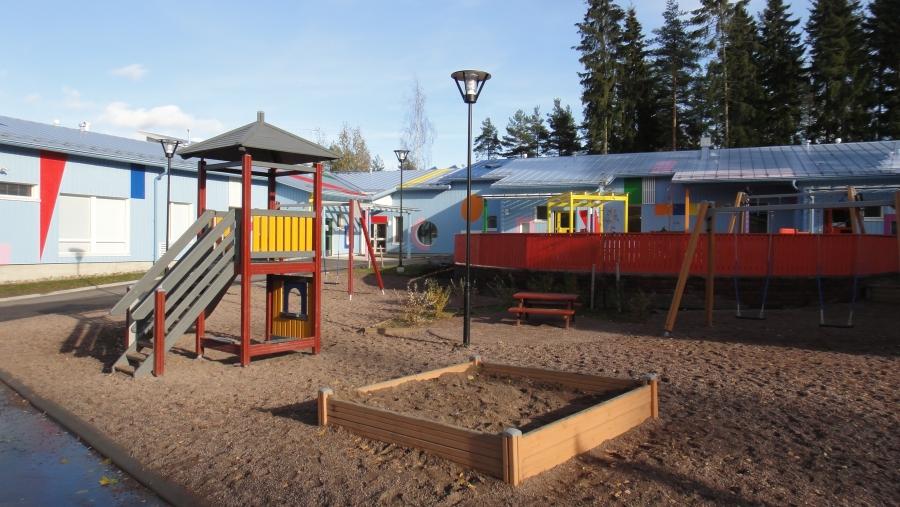 Launosten uusi Päiväkoti Sirkus, jossa on tilaa 103 lapselle.