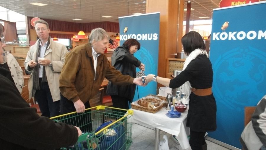 Riihimäen Atomin Prisman Cafe Presso täyttyi upeasti kun tänään paikalle saimme ulkoministerimme Alexander Stubbin.