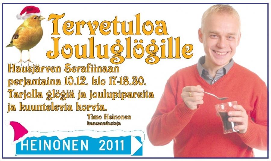 Tänään Hausjärvellä Timon perinteiset Jouluglögit... ja alla sitten koko joulukuun kiertue...
