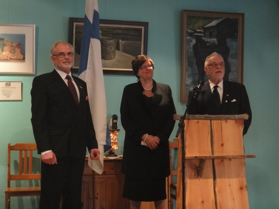 Pankkimiehen ja entisen huippu-urheilijan, hyvän ystäväni, Tapio Mikkolan neuvosjuhla oli tänään päivän kohokohta Lopen Puotinkulman Timjamissa.