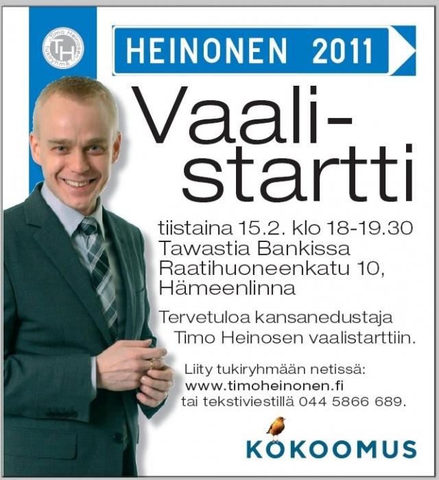 Huomenna startit jatkuvat! Hämeenlinna seuraavaksi. Tervetuloa mukaan!