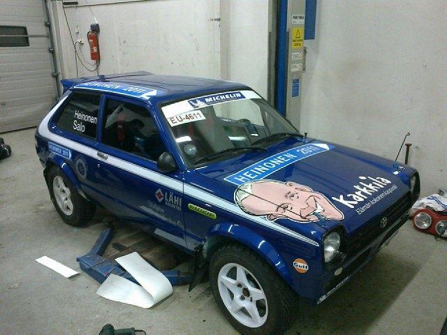 Auto valmiina huomiseen...