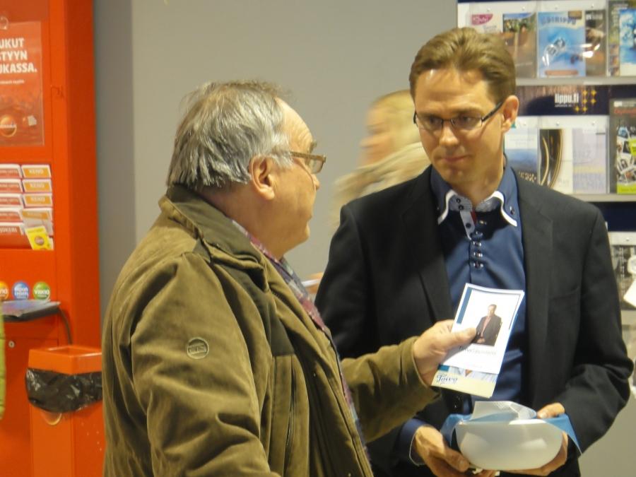Ja tässä sitten tunnelmia puheenjohtajamme Jyrki Kataisen kanssa Häme kierrokselta.