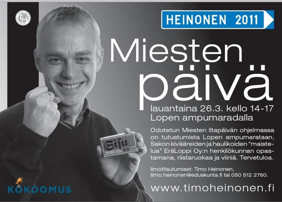 HUOM! Ilmoittaudu mukaan! Paikkoja rajoitetusti 40. timo.heinonen (a) eduskunta.fi