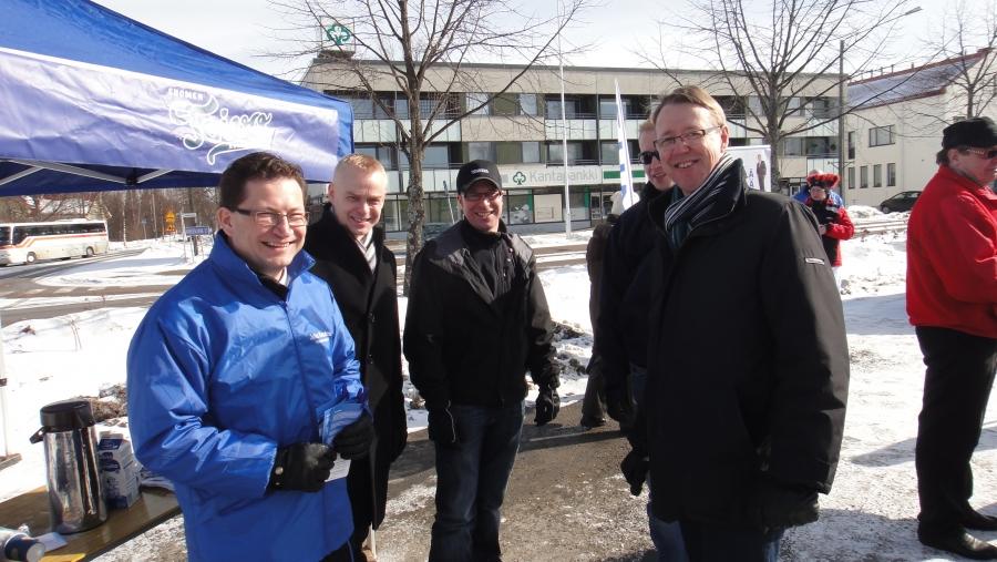 Ensin kampanjaa Hämeessä... Hämeenlinna, Hattula, Hauho ja Tuulos tänään rundissa.