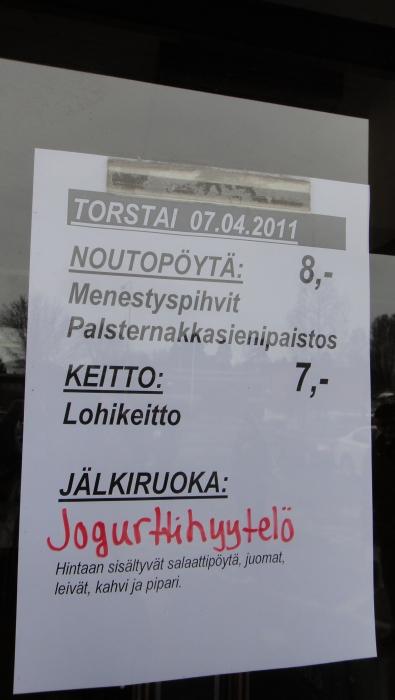 Ja Lopella tottakai lounaana Menestyspihvejä :)