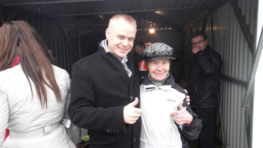 Ja Jokioisilla tottakai mukana vahva tukijani ja ystäväni Marja-Leena Puntila. Aivan mahtava ihminen.