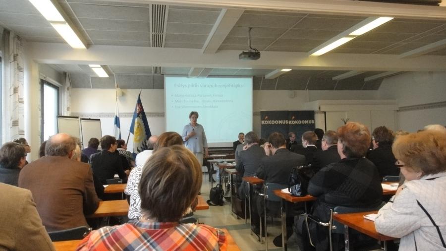 Hämeen Kokoomuksen syyskokous ja syysseminaari järjestettiin tänään Forssan Rantasipissa. Sali täynnä hienosti väkeä.