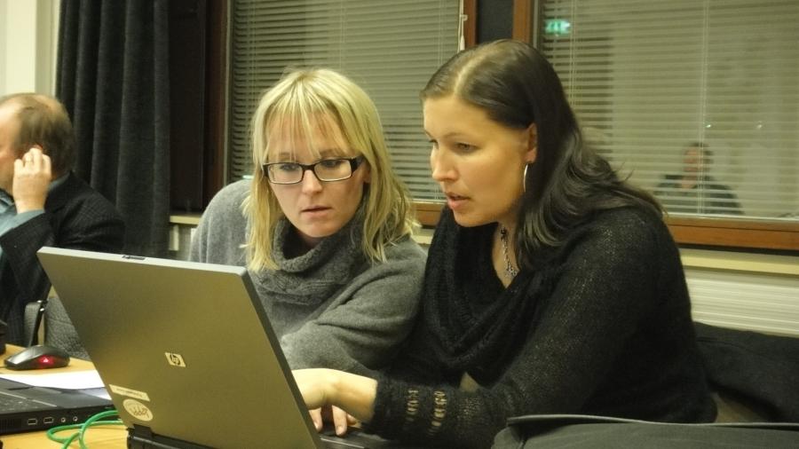 Eeva Pyhälammi ja Saija Grönholm.