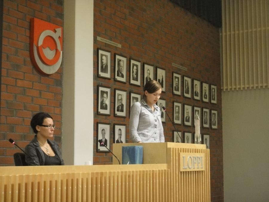Meidän ryhmäpuheen piti Tiina Seppälä. Erinomainen puhe. Kiitokset Tintille.
