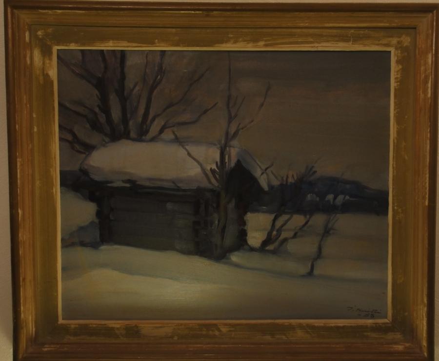 Olisiko jullakulla tietoa missä päin taiteilija Ilmari Huitti maalasi talvella 1958? Olisi mielenkiintoista tietää mistä tuo tauluni aittamaisema on?