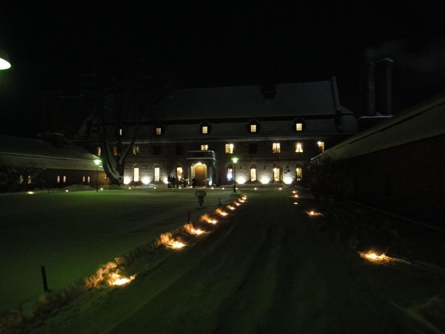 Ja sitten iltaa juhlagaalassa Vanajanlinnassa...