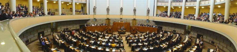 Nuorten Parlamentti tänään 23.3.2012 eduskunnassa.