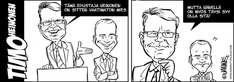 Janne Markkasen tuore pilapiirrossarjis on taas aika paha. Hymyilin.