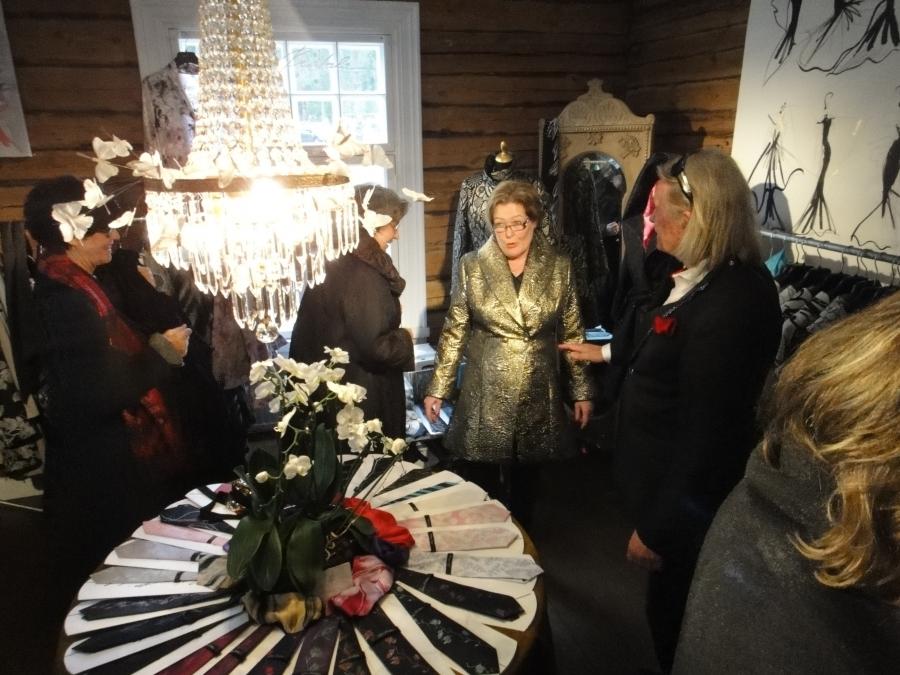 Kartanoputiikin Jukka Rintala Shop oli yksi päivän suosituimmista huoneista ja kauppa kävi sielläkin.