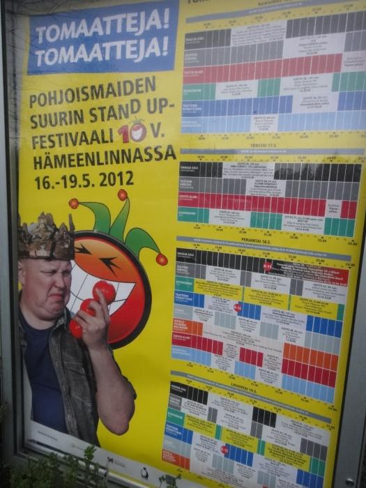 Tomaatteja Tomaatteja 10v Ismo Leikolan juhlashow Verkatehtaalla 17.5.2012. Mukana katsomassa yhdessä Mäkin komppaan Timppaa -nuorisotiimin kanssa. Mahti sakki ja huippu showkin.