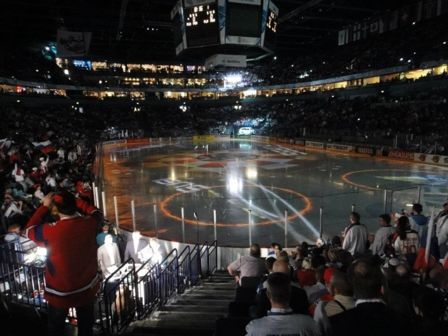 Ja tässä sitten itse MM-finaali alkamassa... Venäjä-Slovakia.