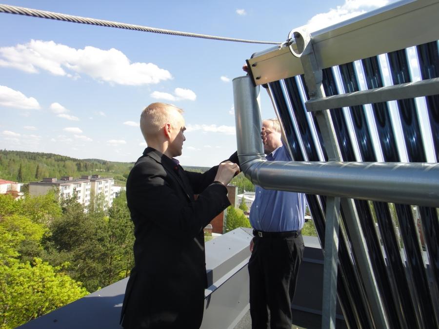 Rica aurinkopanelijärjestelmä on ollut nyt muutaman vuoden käytössä Riihimäen keskustassa Allinnan Helmi Asunto-osakeyhtiössä ja kokemukset ovat olleet hyviä.