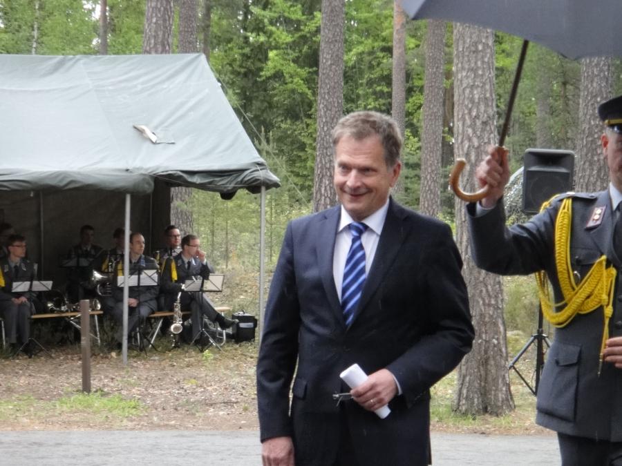 Tasavallan presidentti Sauli Niinistö oli Marskin Majan 70-vuotisjuhlan kunniavieras.