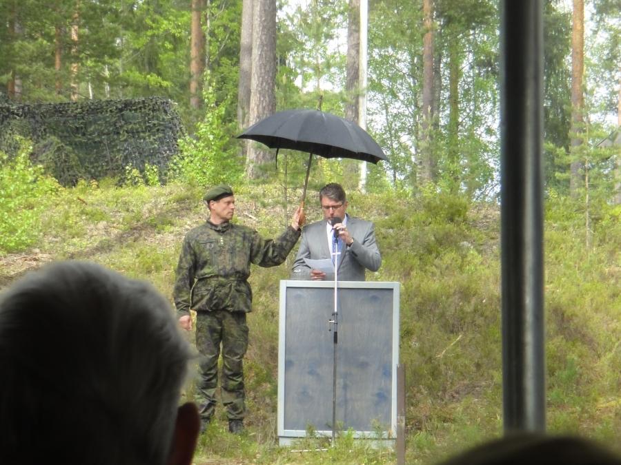 Ja Lopen kunnan tervehdyksen piti valtuustomme puheenjohtaja Seppo Kuparinen joka korosti Marskin Majan merkistystä meidän kunnalle, mutta myös koko Suomelle.