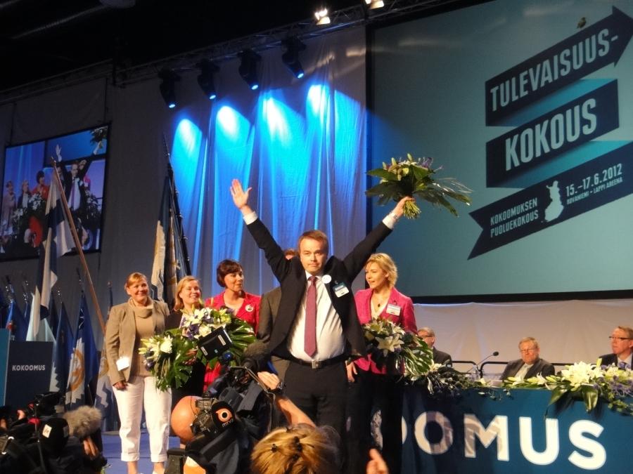 Ja näin uusi varapuheenjohtaja Janne Sankelo tuulettaa :)