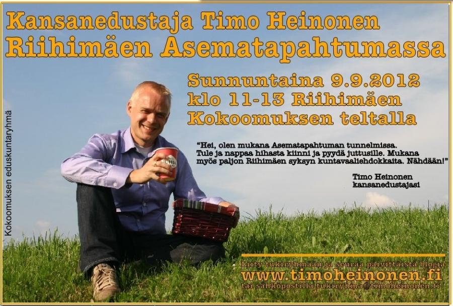 Tänään! Riihimäen Asematapahtumassa klo 11-13. Tervetuloa mukaan!