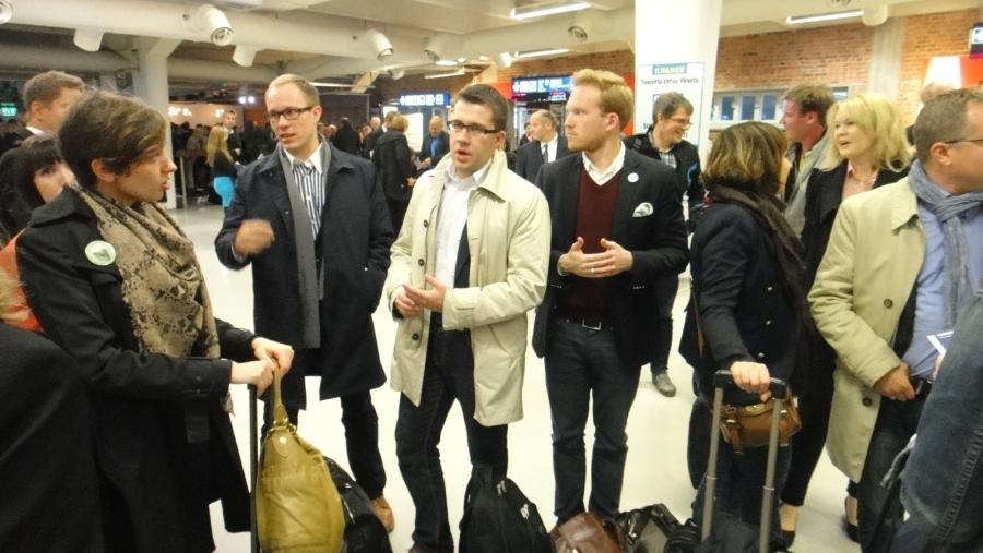 Kokoomuksen Tulevaisuusristeily alkamassa eilen 29.9.2012....