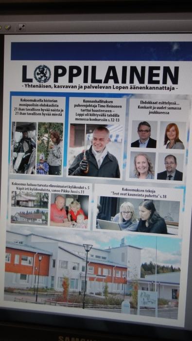 Ensi keskiviikkona se julkaistaan. Lopen kunnallisvaalien lehti Loppilainen. Maltakaahan vielä.