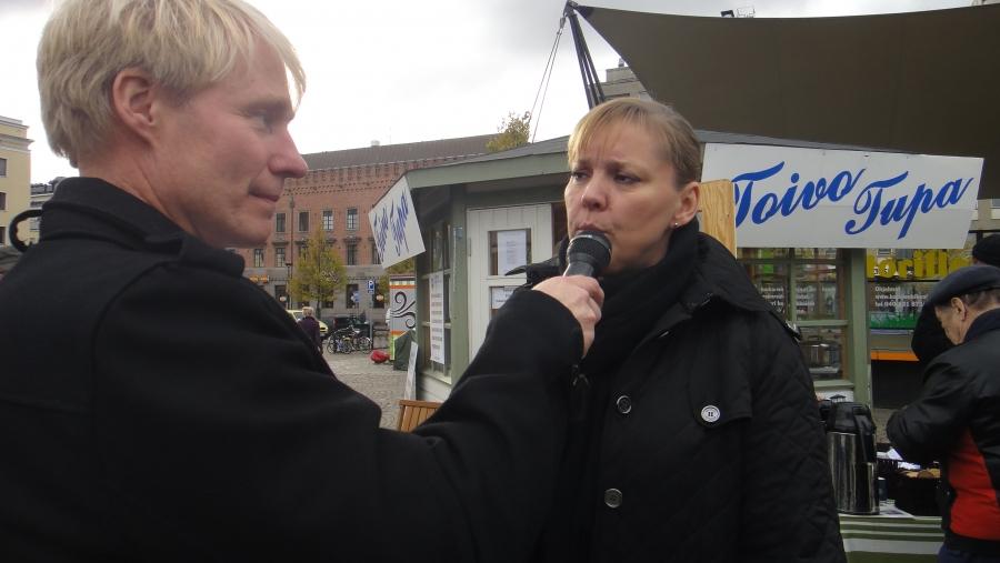 Ja Tarulta hieman vaalikampanjatunnelmia haastatteli Ari Räsänen...