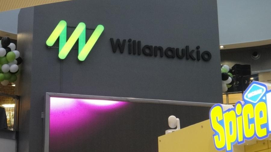 Willanaukio on kauppakeskus Willan sydän missä esiintymislavalla tulee aina tapahtumaan ja paikasta varmasti kehittyy tapaamisten ja keskustelujenkin sydän Roberts Coffeen ja Spice Icen johdolla. Kiva tunnelmainen keskus.