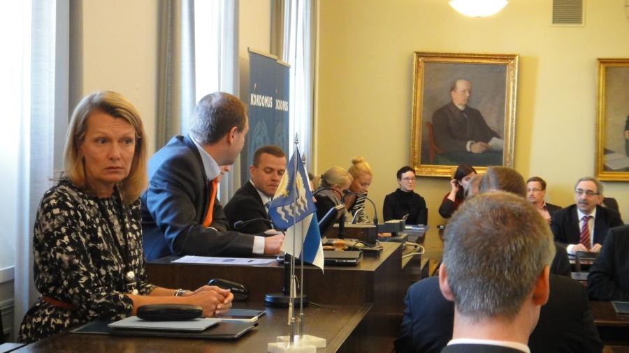 Tässä vielä puhetta johtamassa Jan Vapaavuori joka siirtynee perjantaina elinkeinoministeriksi.