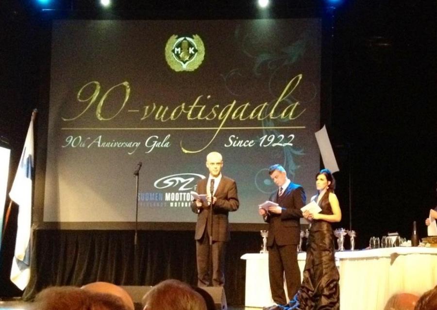 Minulla oli kunnia pitää puhe Moottoriliiton juhlassa Valtion Liikuntaneuvoston jäsenenä ja motorsportin suurena ystävänä. Yksi urani hienoimpia hetkiä.