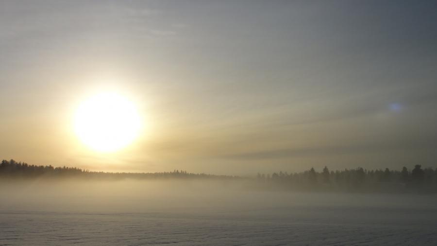Tunnelmia Lopen Launosista tältä päivältä. Kaunis talvipäivä.