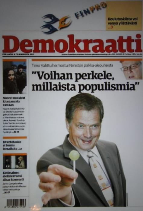 Surullisen koville ottaa näköjään edelleen Paavo Lipposen 6,7%. Hieman kunnioitusta ja hyvää makua toivoisi sentään puolueen viralliselta lehdeltä. Surullista.
