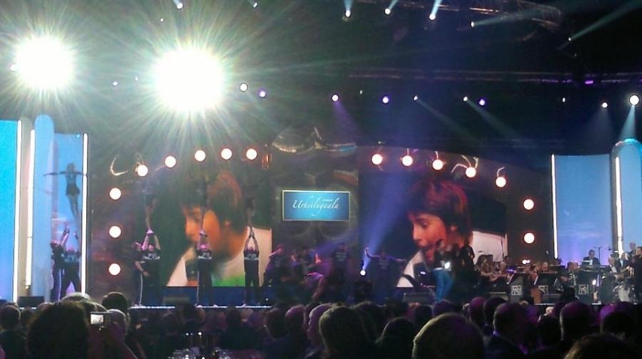 Ja musiikkiakin ilta tarjosi. Robin ja lavalla samaan aikaan todella taitavat cheerleaderit. Huikea show kuten myös illan tulishowkin.