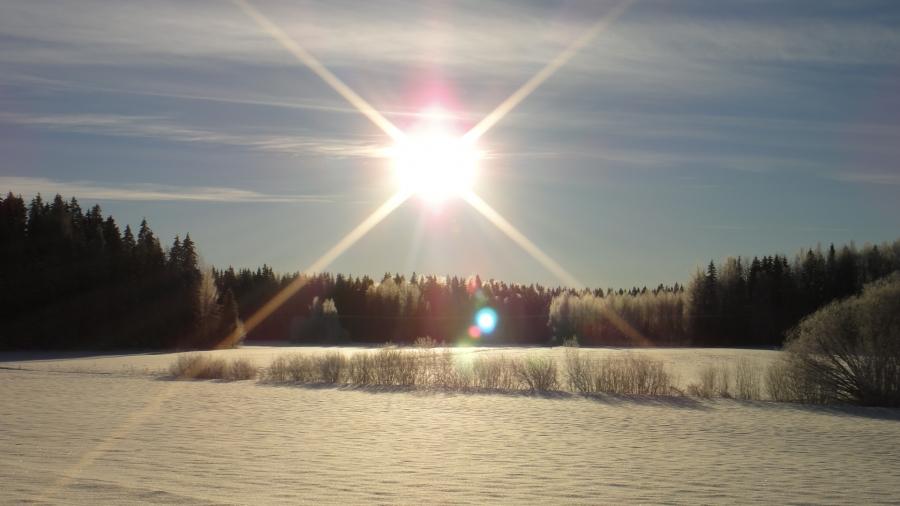 Kylmän pakkaspäivän maisemia Lopelta 19.1.2013.