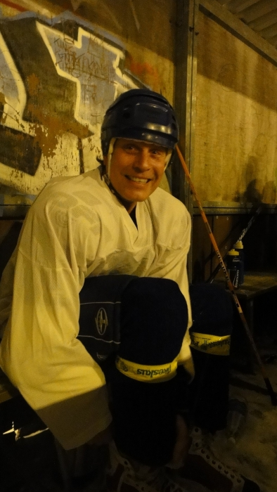 Jari Nylund valmiina jälleen LHL peliin.