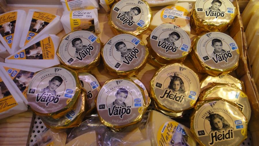 Ja suomalaisia juustoja...