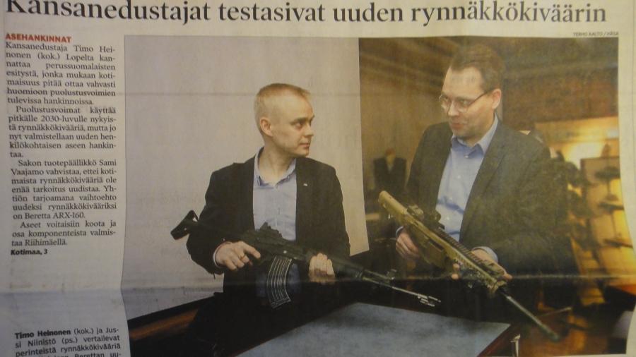 Tässä Hämeen Sanomien jutusta pääsivun nosto...