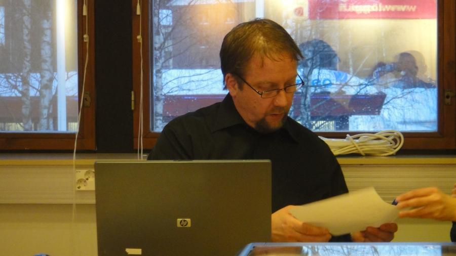 Ja allekirjoituksen myös Jarmo Laukkaselta kunnan vahvaan tilinpäätökseen.