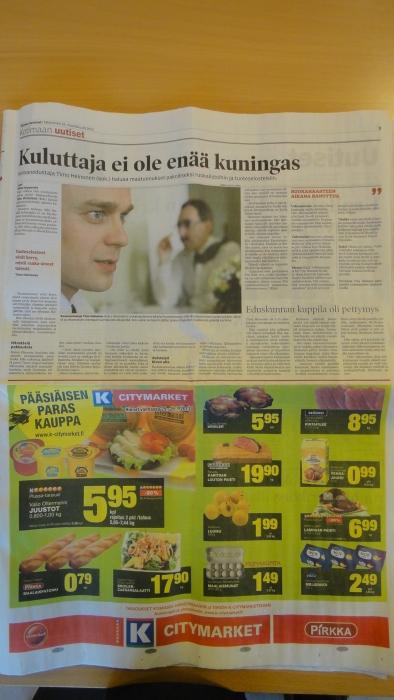 Katsokaapa jutun alla olevasta K-kaupan mainoksesta kuinka moni tuote on suomalaista? Ja kuinka monessa se kerrotaan?