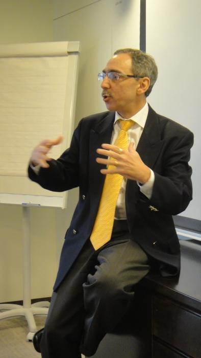 ...ja Ben kävi seikkaperäisesti läpi miten Euroopan talouskriisin on tullut, missä nyt ollaan ja mihin mennään. Erittäin osuva puheenvuoro vierailleni.